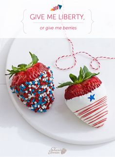 Celebrate the Fourth of July with a star-spangled strawberry salute from Shari's Berries!