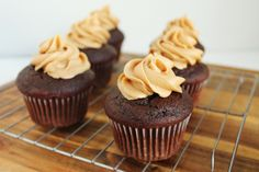 Unusually Lovely: Create Something - Blog - Peanut Butter Chocolate Cupcake Recipe