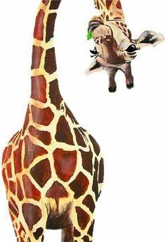 animal art Giraffe art perfect to display or add t - animals Animal Paintings, Animal Drawings, Art Paintings, Art Drawings, People Drawings, Disney Drawings, Pencil Drawings, Animal Painter, Art And Illustration