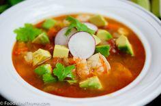Shrimp avocado soup - quick recipe!