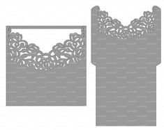 Wedding Envelope Template Instant Download by EasyCutPrintPD