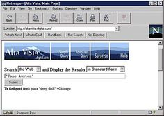DEC Alta Vista search engine