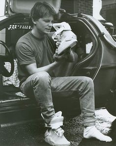Michael J. Fox as Marty McFly in Back to the Future II, 1989