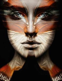Butterfly Projection Portraits - 'Camouflage' by Carsten Witte Showcases Metamorphosis-Like Masks (GALLERY)
