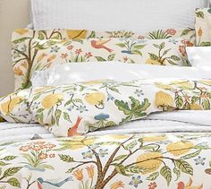 Potterybarn--Light & airy color & pattern inspiration for cards.  Dominant color is a warm yellow with warm greens and touch of orange red.