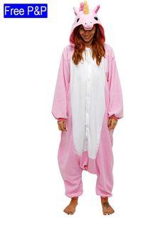 Adult Kigurumi Pink Unicorn Costume