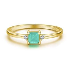 Paraiba Tourmaline CZ crystals 925 Sterling Silver 14k Gold plated 925 Sterling silver Prong setting Polished Bohemian Rings, Boho Jewelry, Ring Designs, Engagement Rings, Sterling Silver, Crystals, Gold, Products, Enagement Rings