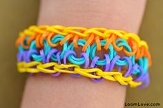 How to Make a Sun Rainbow Loom Bracelet...many tutorials on this site.