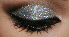 glittery eye shadow