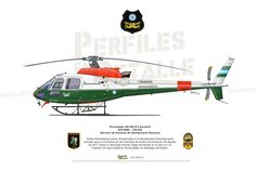 Eurocopter AS-550 B-3 Ecureuil S/Nº4686 - GN-928 Servicio de Aviación de Gendarmería Nacional Military Helicopter, Military Aircraft, Police Cars, Police Vehicles, Fly Drawing, Aviation Art, War Machine, Military History, Wwii