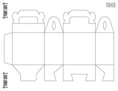 diy customizable matte white gable box favor box template