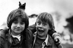 Maculay Culkin and Elijah Wood.