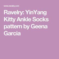Ravelry: YinYang Kitty Ankle Socks pattern by Geena Garcia