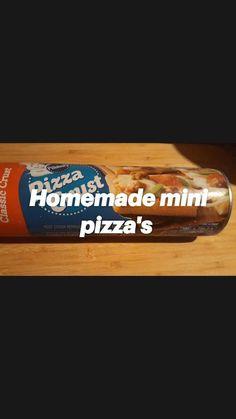 Easy Home Recipes, Easy Homemade Pizza, Pizza Rolls, Pizza Dough, Pizza Recipes, Pepperoni, Mozzarella, Mini, Dinners