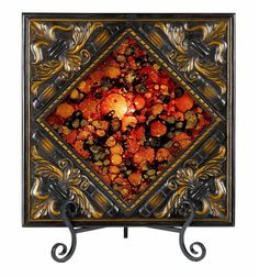 "Cal Lighting TA-225PT 25 Watt 17.5"" Tuscan Resin/Glass Lighted Charger Plate wit Antique Bronze Home Decor Accents Decorative Plates and Bowls"