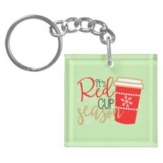 Red Cup Season Key-Chain Keychain - diy cyo customize create your own personalize
