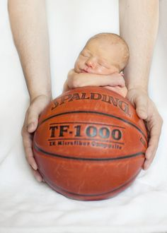 #basketball+newborn Photo By J. Lynn Photography