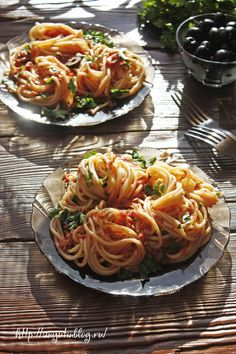 Паста с тунцом. #spegetti, #pasta, #tuna, #italian, #food, #recipes,