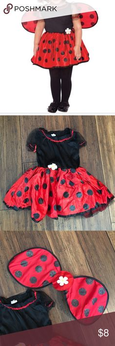 Baby Little LadyBug Costume Party City lady bug costume. Worn twice. Comes with Dress and detachable wings. Excellent Used Condition. Party City Costumes Halloween