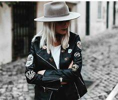 Barbara Ines, Fashion Images, Poses, Punk, Leather Jacket, Fashion Outfits, Instagram Posts, Jackets, Style