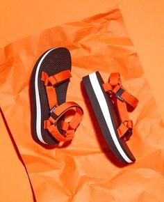 Teva Universal Flatform Sandals in Orange