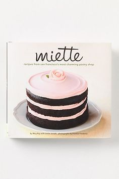 Featuring over one hundred once-hushed recipes from SF's acclaimed and much beloved French bakery, Miette Patisserie, this beautiful book features recipes and color reproductions of their crowd pleasing confections: cookies, clairs, tarts and, to name one of our personal favorites, fleur de sel caramels. As if it wasn't sweet enough, each precious page is finished with scalloped edges.