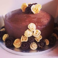 Black Forest Chocolate Cake with Chocolate Decorations