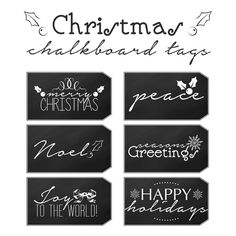 Free Printable Christmas Chalkboard Tags - The Cottage Market