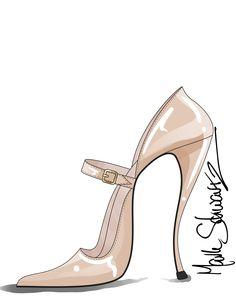 BEIGE PATENT MARY JANE - MARK SCHWARTZ www.markschwartzshoedesign.com
