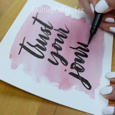 Create a stunning and unique brush lettering effect with watercolor masking fluid! Watercolor Calligraphy Quotes, Brush Lettering Quotes, Hand Lettering Tutorial, Hand Lettering Alphabet, Calligraphy Art, Watercolor Masking Fluid, Watercolor Paper, Creative Lettering, Diy Canvas Art