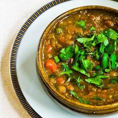Curried Lentil Soup with Cilantro