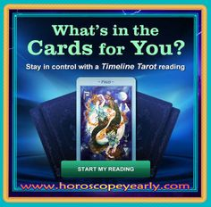 What's In The Cards For You?  Are the Cards In Your Favor? By combining the external energy of the cosmos with the depth of your internal intuition, a #Horoscope #Tarot reading can help you realize and reach your aspirations. Our psychics will amaze you with their honesty, integrity and accuracy! Try us FREE today! Click Here For Details:  http://www.horoscopeyearly.com/career-and-love-horoscope/