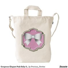 Gorgeous Elegant Pink Baby Shower Gift Duck Bag