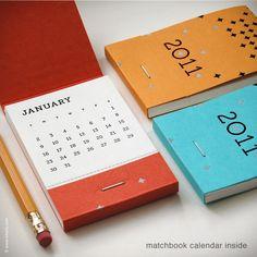 Pocket calendar.  Good idea for graphic design leave behinds after interviews…