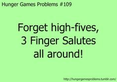Oh what have you done with out society Hunger Games... again? :P
