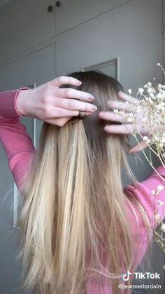 Hairdo For Long Hair, Bun Hairstyles For Long Hair, Braided Hairstyles, Basic Hairstyles, Hair Tutorials For Medium Hair, Medium Hair Styles, Curly Hair Styles, Hairstyle Tutorials, Hair Tips Video