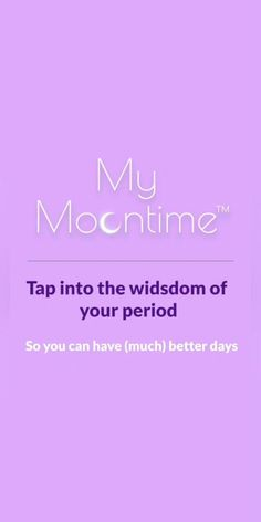 Tap into the wisdom of your period so you can have (much) better days with the original period and moon cycle tracker. Made by a woman, for women. Girl Life Hacks, Menstrual Cycle, Good Day, Natural Remedies, Health Care, Period, App, Canning, Wisdom
