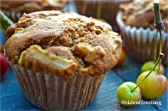 Toffee Apple muffins. A perfect combination of autumn flavours.
