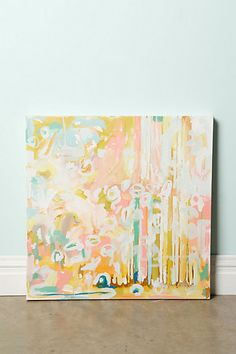 more than anything I love the wall color, the trim, and yes, the art: Geode By Michelle Armas  #anthropologie