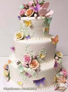 "Design Social0536 | Fondant Specialty Cake | 12"" + 9""+ 6"" 