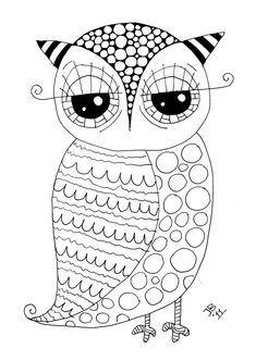 Free Owl - Coloring Page
