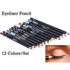 ShungHO 12 Colors Professional Eye Shadow Eyeliner Pen Pencil Beauty Makeup Tool ** To view further for this item, visit the image link. (Note:Amazon affiliate link)