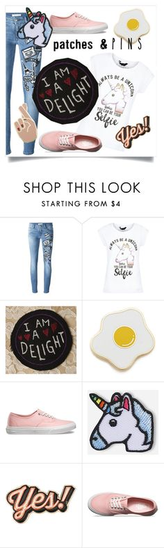 """""""Patches and pins"""" by danielle-broekhuizen ❤ liked on Polyvore featuring Pierre Balmain, New Look, Georgia Perry, Vans, Hipstapatch, Anya Hindmarch and patchesandpins"""