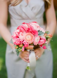 gorgeous blooms - ranunculus, mini calla lilies, roses, and beautiful greenery