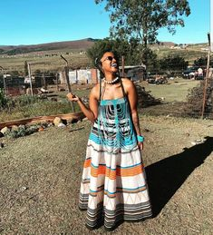 African Wear Dresses, African Attire, Seshweshwe Dresses, African Clothes, South African Traditional Dresses, Traditional Outfits, Traditional Weddings, African Inspired Fashion, African Print Fashion