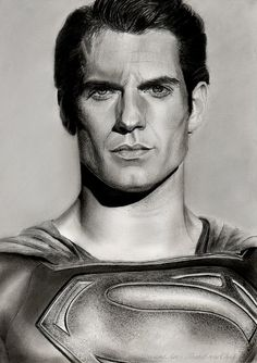 Man Of Steel - Henry Cavill Drawing by KirstenLouiseArt