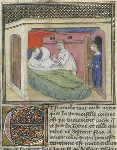 « C'est le livre de messire Lancelot du Lac, ouquel livre sont contenus tous les fais et les chevaleries dudit messire Lancelot, et la Queste du saint Graal faite par ledit messire Lancelot, le roy Artus, Galaad, le bon chevalier Tristan, Perceval, Palamedes et les autres compaignons de la Table ronde. » — 2e volume Auteur : Gautier Map. Auteur du texte Date d'édition : 1401-1425