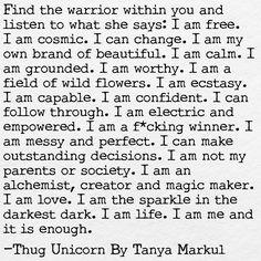"""458 Likes, 26 Comments - Thug Unicorn by Tanya Markul (@thugunicorn) on Instagram: """". . . @thugunicorn by @tanyamarkul . . . #thewarriorwithin #thugunicorn #youarethemagic…"""""""