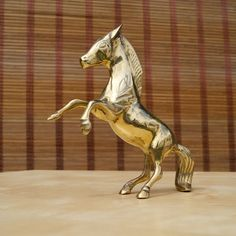 Solid brass vintage sculpture: Running Horse  in by UKAmobile