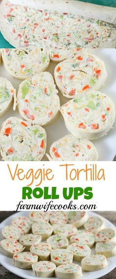Veggie Tortilla Roll Ups have an irresistible ranch flavored cream cheese filling that makes a great after school snack or appetizer.